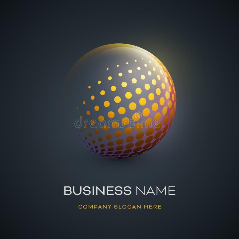 Diseño abstracto del logotipo de la esfera libre illustration