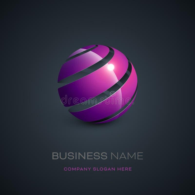 Diseño abstracto del logotipo de la esfera ilustración del vector