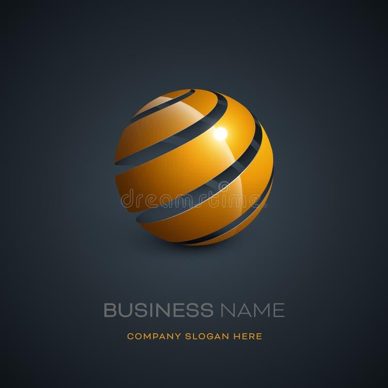 Diseño abstracto del logotipo de la esfera stock de ilustración
