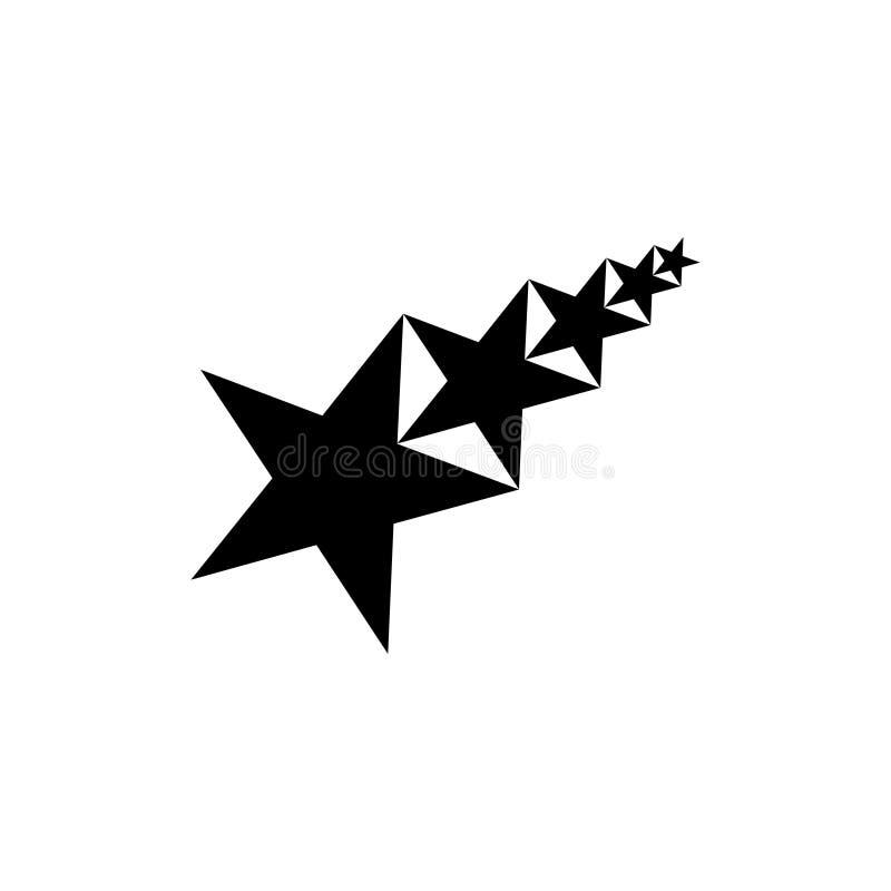 Diseño abstracto del logotipo del vector de la estrella cinco para las industrias, la gente etc Ilustración del vector stock de ilustración