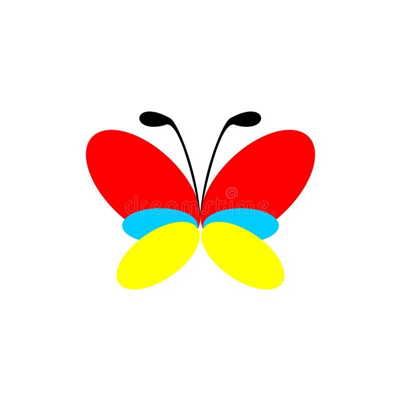 Diseño abstracto del logotipo del vector de mariposa Ilustración del vector libre illustration