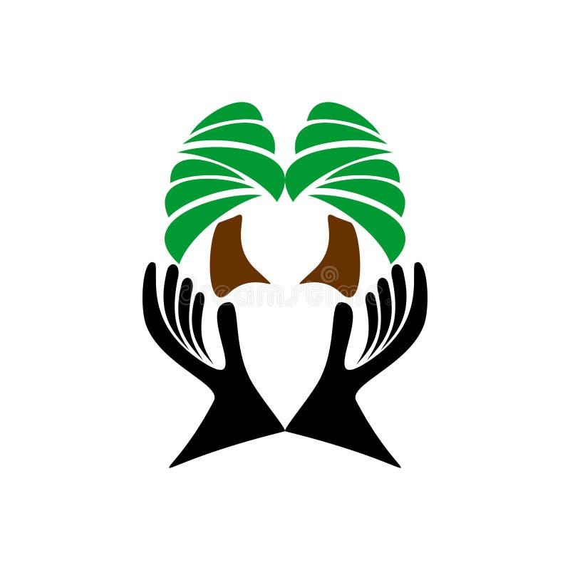 Diseño abstracto del logotipo del vector para el árbol de la reserva, naturaleza, jardines Ilustración del vector ilustración del vector