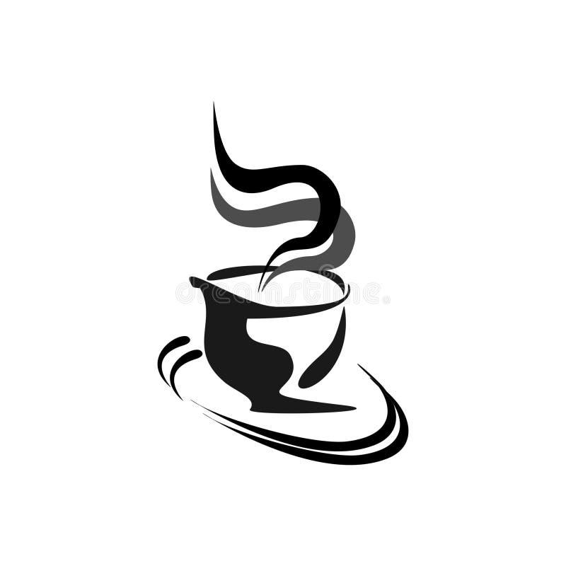 Diseño abstracto del logotipo del vector para la tienda caliente de Coffey, naturaleza, jardines Ilustración del vector ilustración del vector