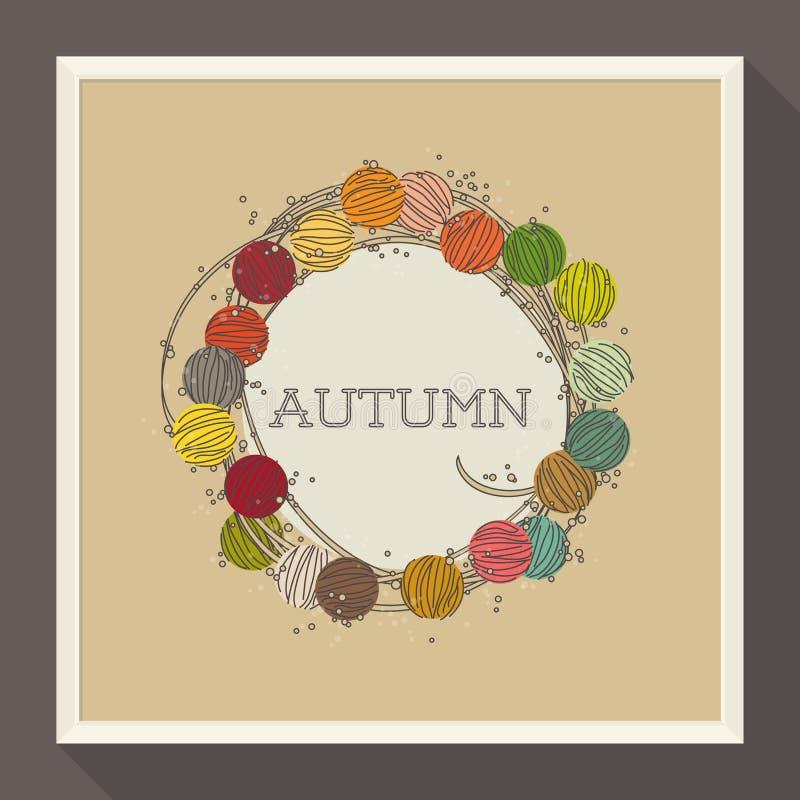 Diseño abstracto del otoño con las gotas coloridas. Vector libre illustration
