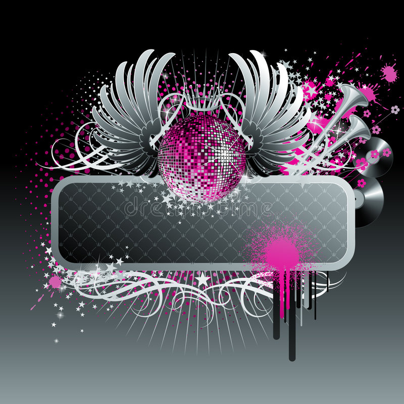 Diseño abstracto del partido. ilustración del vector