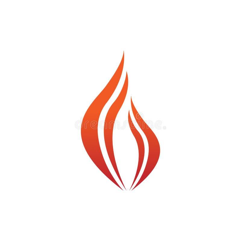 Diseño abstracto del símbolo de Swoosh del fuego de la llama stock de ilustración