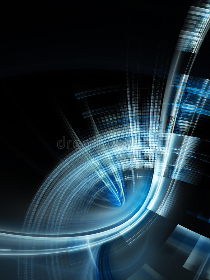 Diseño abstracto del techno ilustración del vector