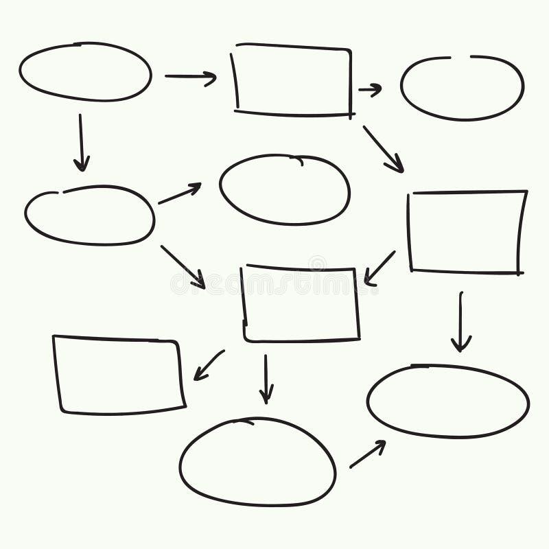 Diseño abstracto del vector del organigrama stock de ilustración