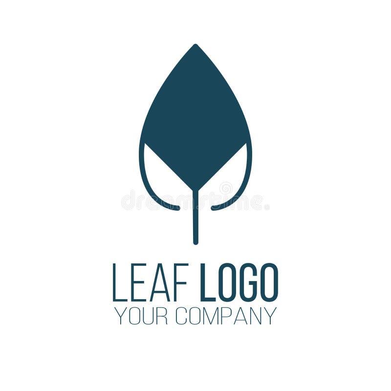Diseño abstracto del vector del icono del logotipo de la hoja Diseño del paisaje, jardín, logotipo del vector de la planta, de la libre illustration