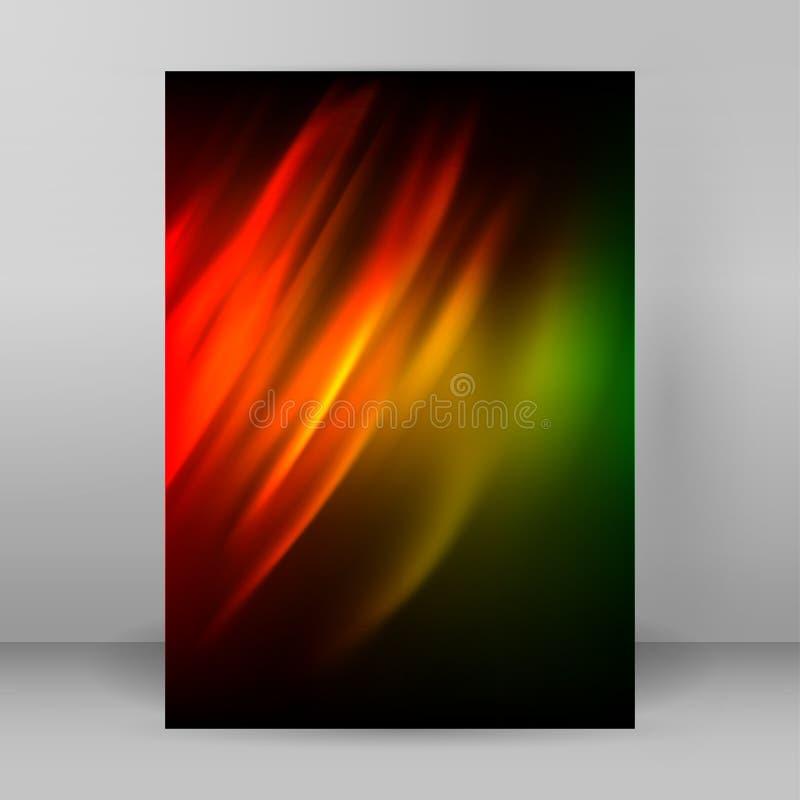 Diseño abstracto elements01 del folleto de publicidad del fondo stock de ilustración