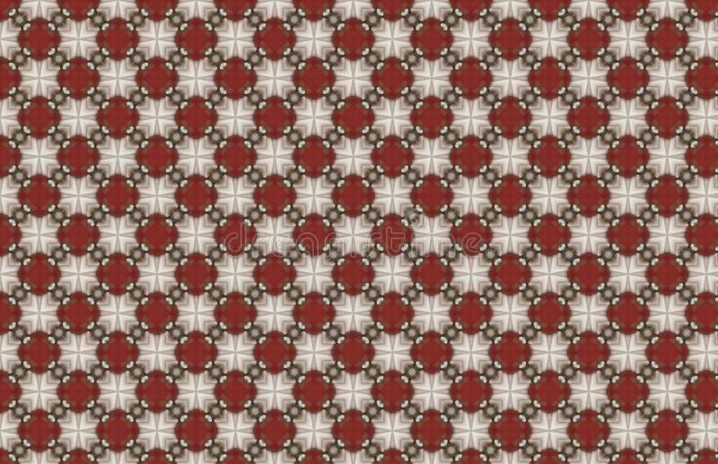 Dise?o abstracto incons?til blanco rojo del modelo stock de ilustración