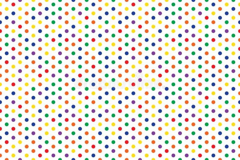 Diseño abstracto inconsútil del fondo del multicolor del modelo del círculo ilustración del vector