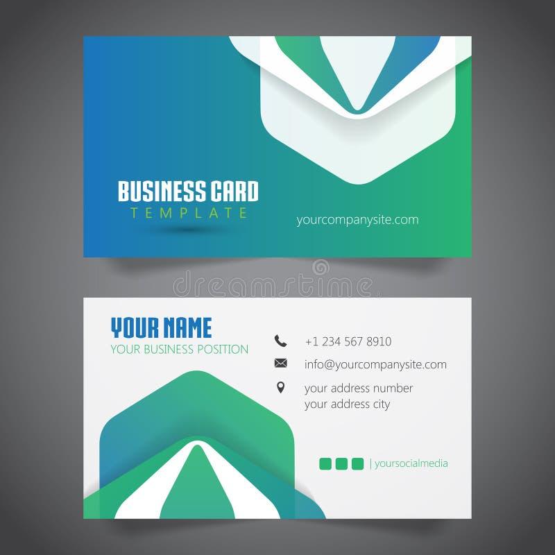 Diseño abstracto moderno de la tarjeta de visita - 2 echados a un lado stock de ilustración