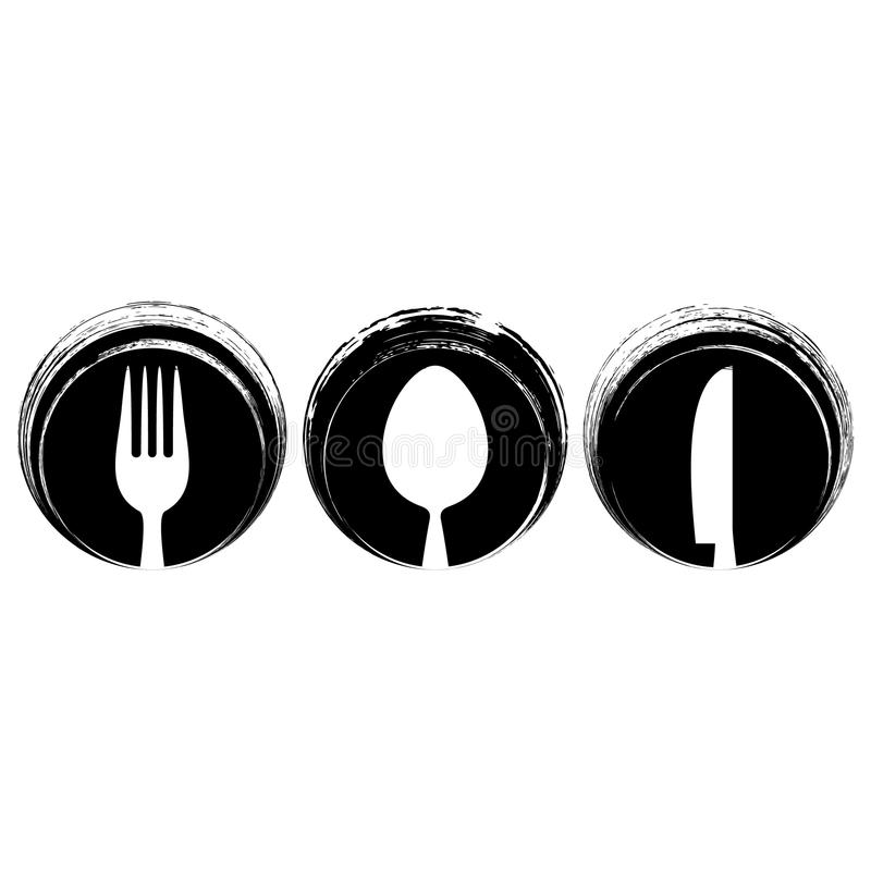 Diseño abstracto negro del menú del restaurante ilustración del vector