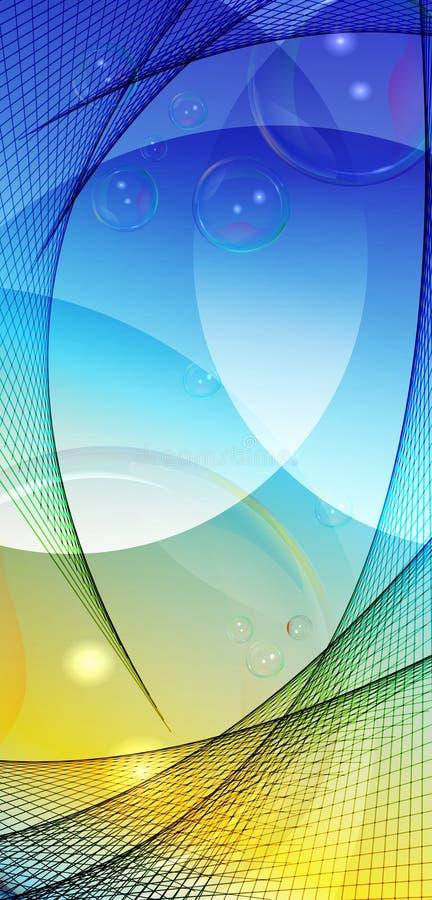 Diseño abstracto neto con el ` S de la BURBUJA libre illustration