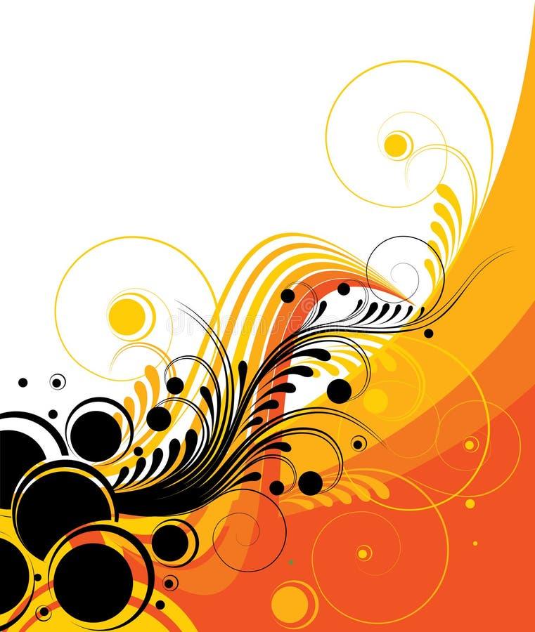 Diseño abstracto retro ilustración del vector