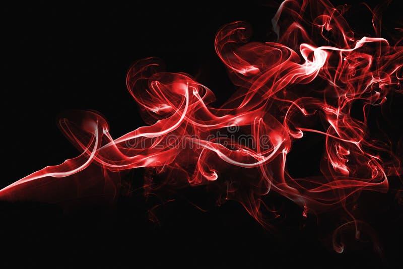 Diseño abstracto rojo del humo imágenes de archivo libres de regalías