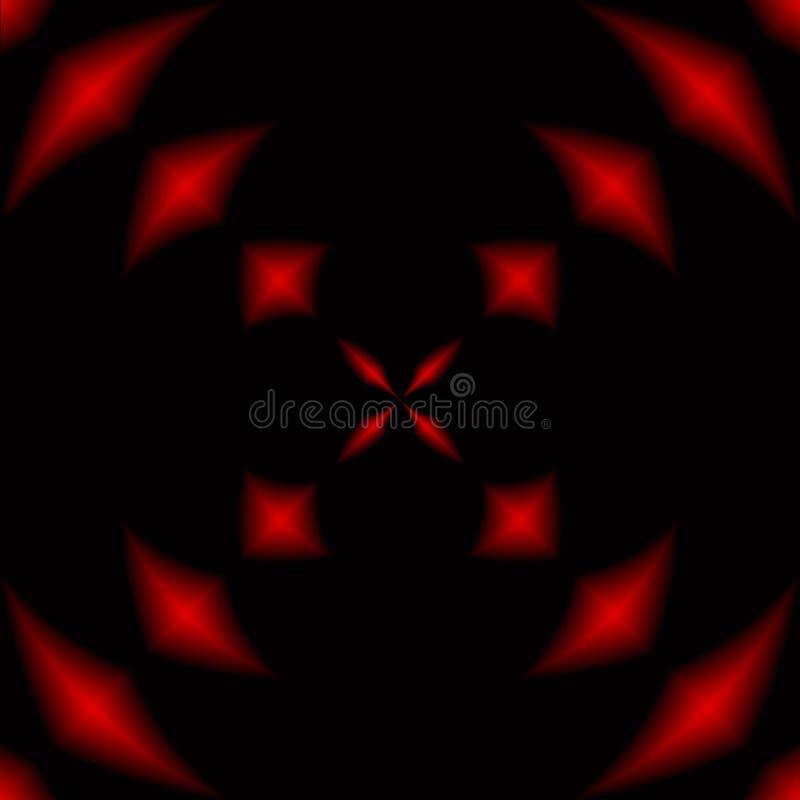 Diseño abstracto rojo y negro stock de ilustración