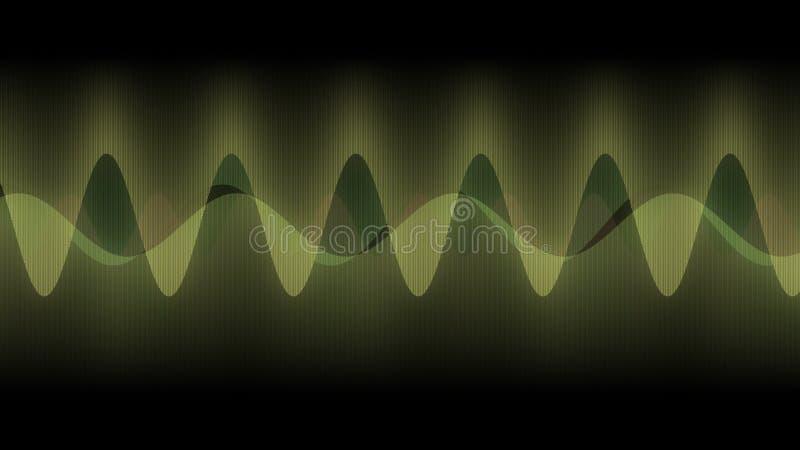Diseño abstracto, textura de las líneas verticales múltiples, ondas de la música, espectro, ilustración del vector