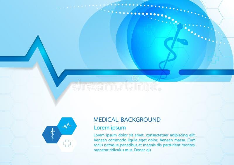 Diseño abstracto VE de la plantilla del concepto del fondo médico de las moléculas libre illustration