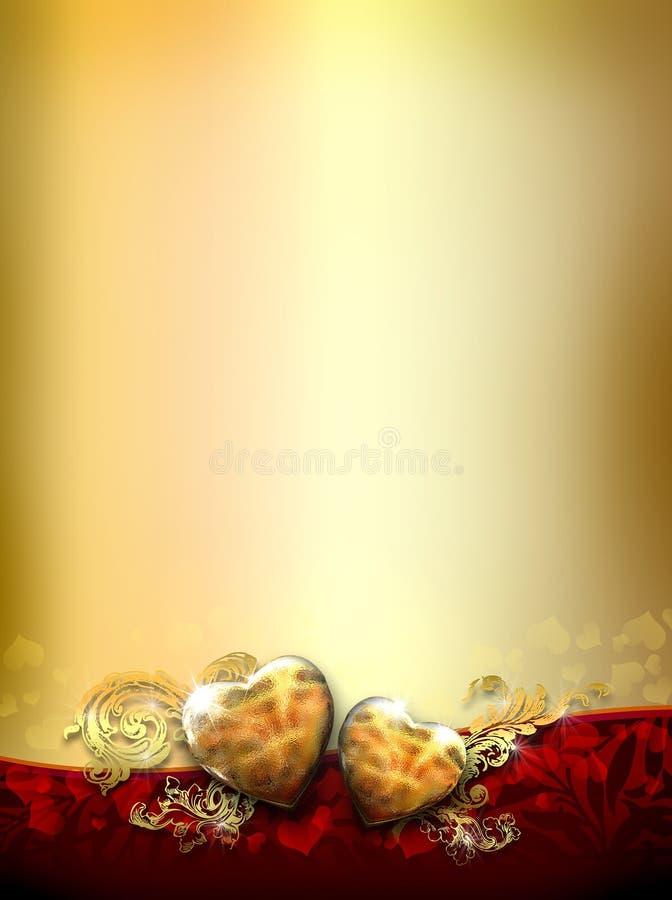 Diseño adornado de dos corazones del amor libre illustration
