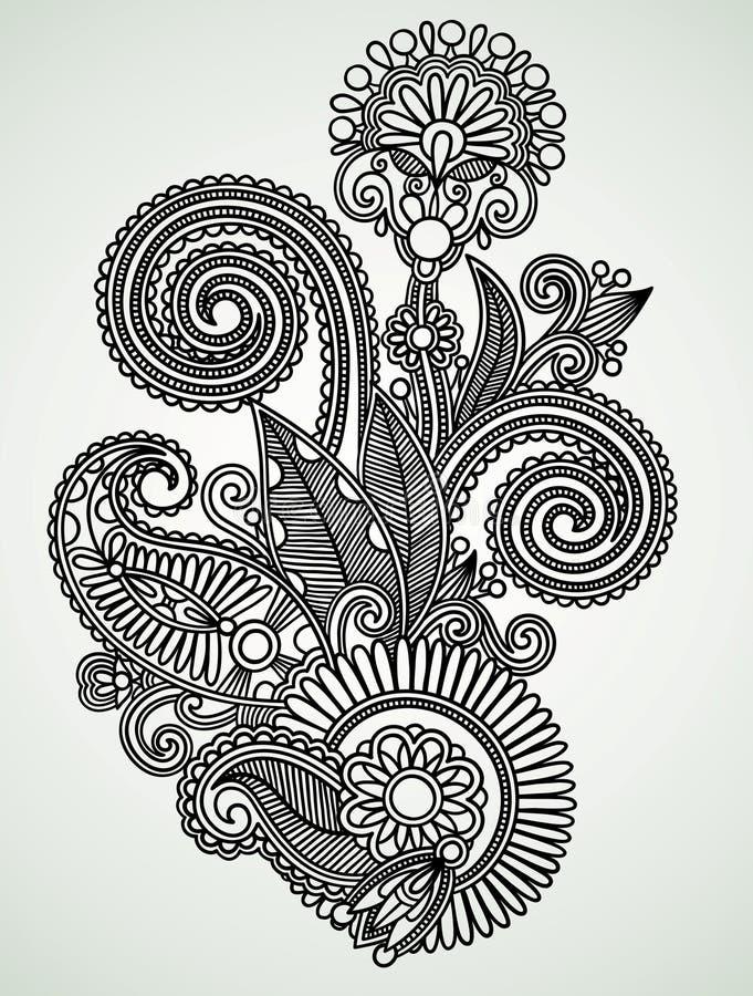 Diseño adornado de la flor ilustración del vector