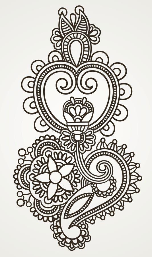 Diseño adornado de la flor libre illustration