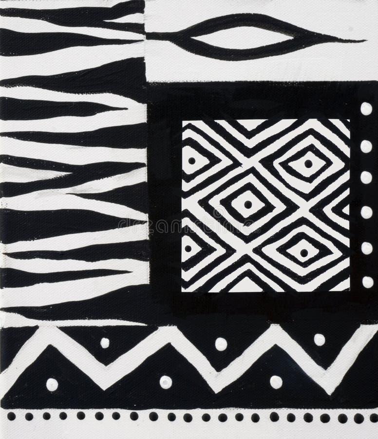 Diseño africano blanco y negro fotografía de archivo libre de regalías
