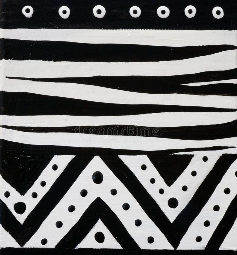 Diseño africano blanco y negro imagen de archivo libre de regalías