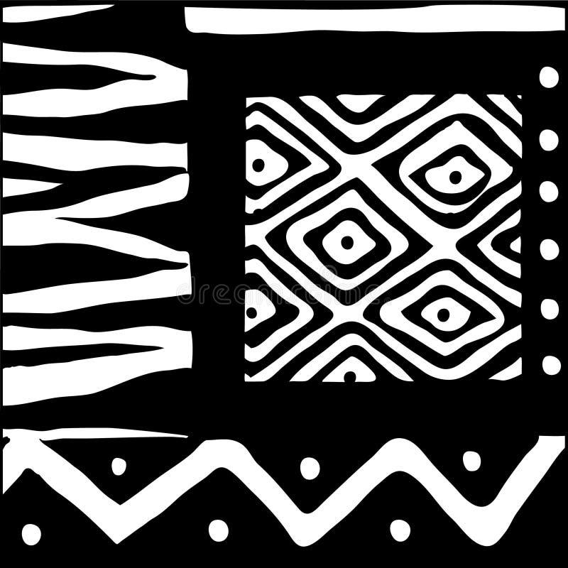 Diseño africano blanco y negro libre illustration