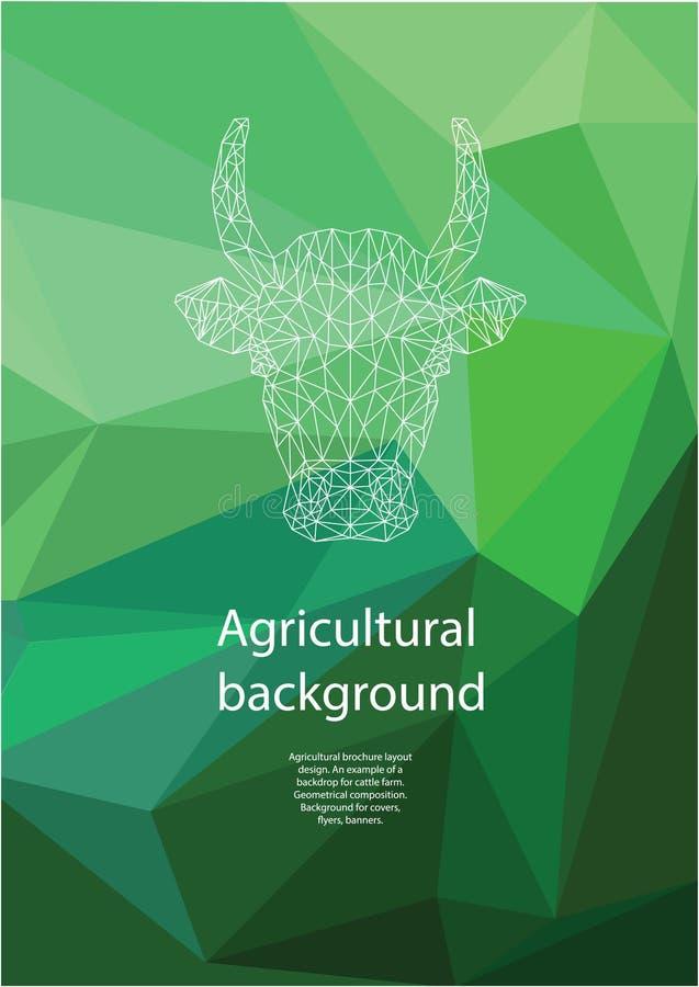 Diseño agrícola de la disposición del folleto composici?n geom?trica Fondo para las cubiertas, aviadores, banderas stock de ilustración