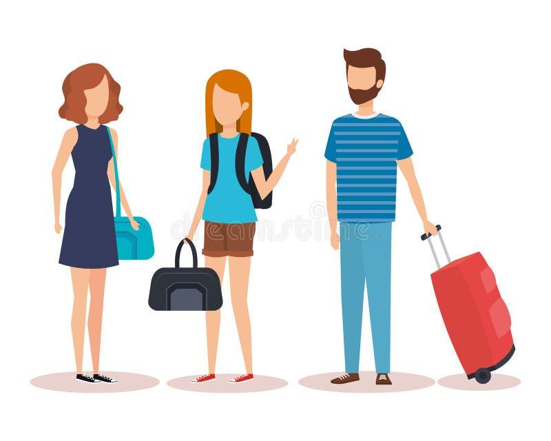 Diseño aislado de la gente del viaje ilustración del vector