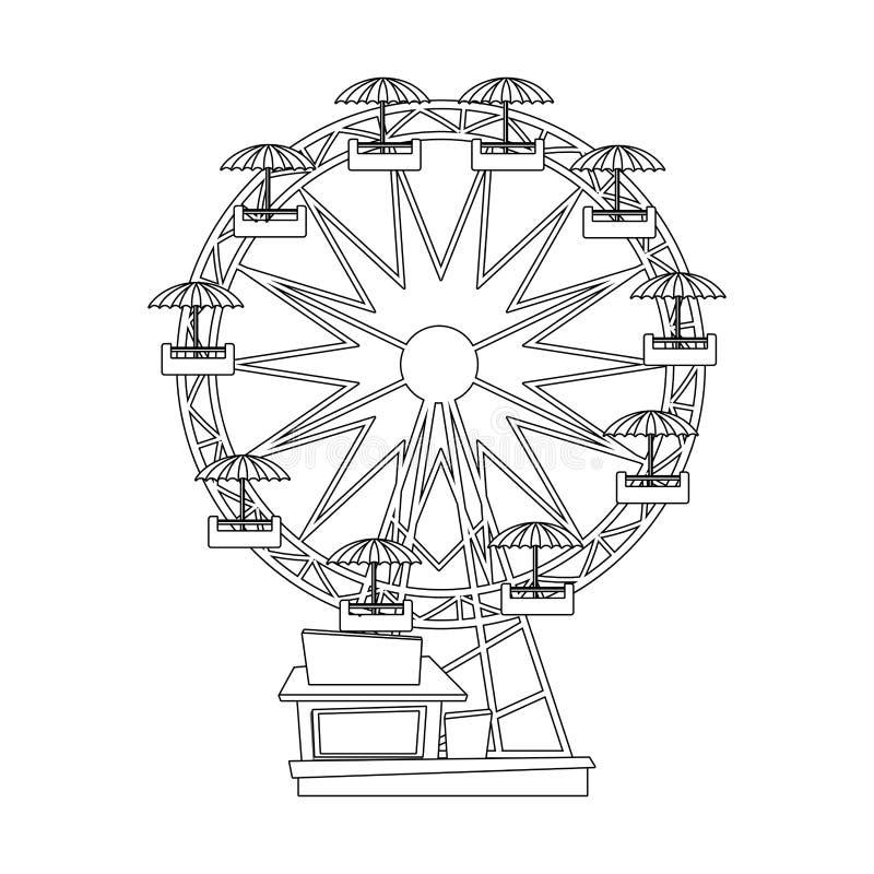 Diseño aislado de la noria libre illustration