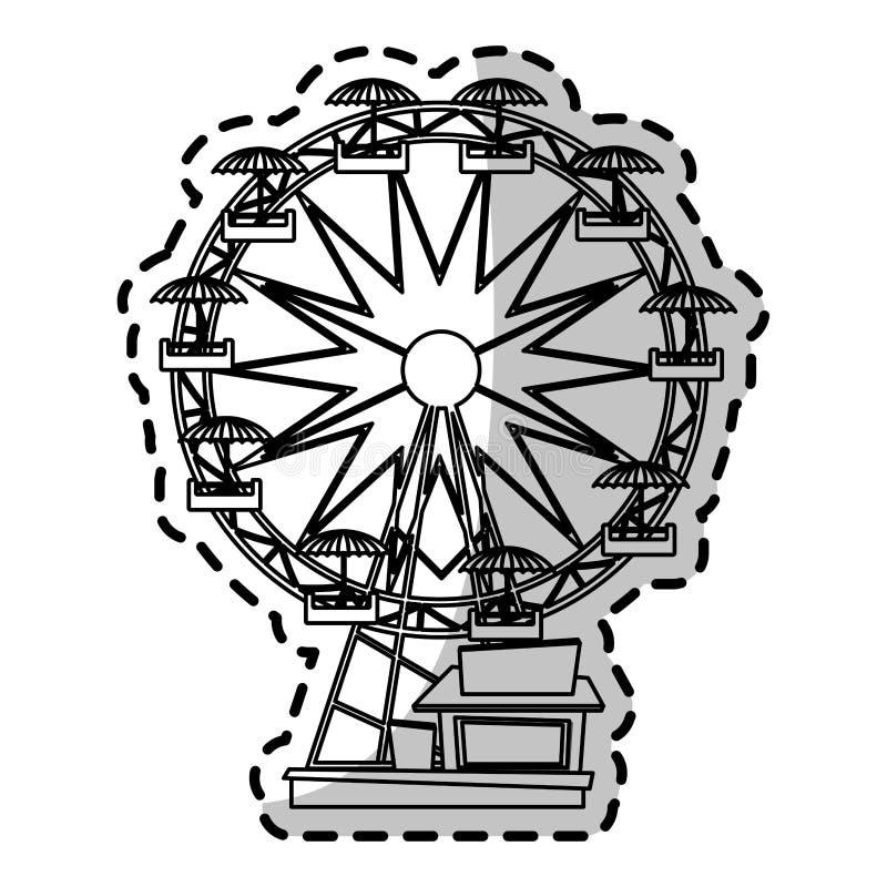 Diseño aislado de la noria ilustración del vector