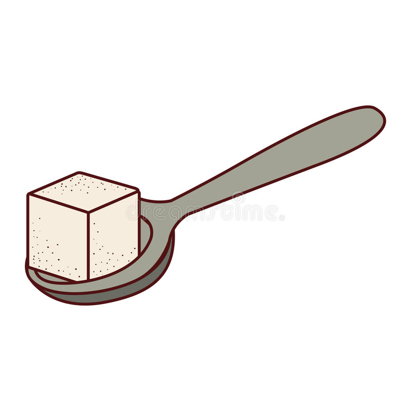 Diseño aislado del cubo del azúcar ilustración del vector