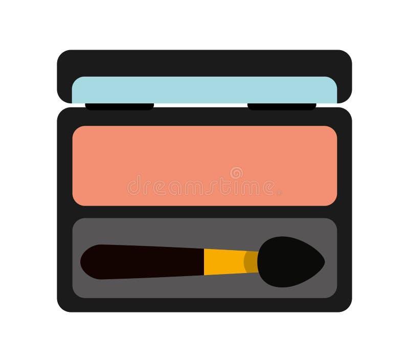 diseño aislado del icono del producto de maquillaje de la máscara de ojo stock de ilustración
