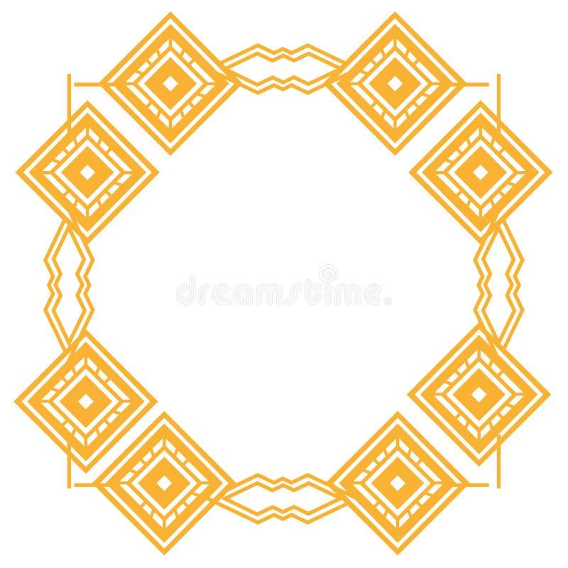 Diseño aislado del marco del art déco ilustración del vector