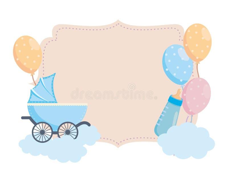 Diseño aislado del símbolo de la fiesta de bienvenida al bebé ilustración del vector