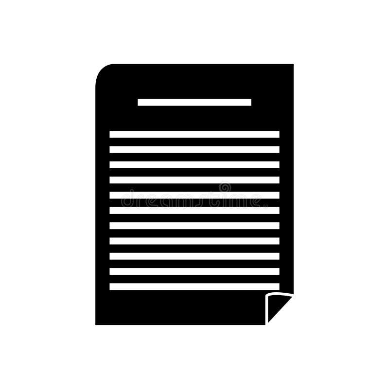 Diseño aislado del trozo de papel stock de ilustración
