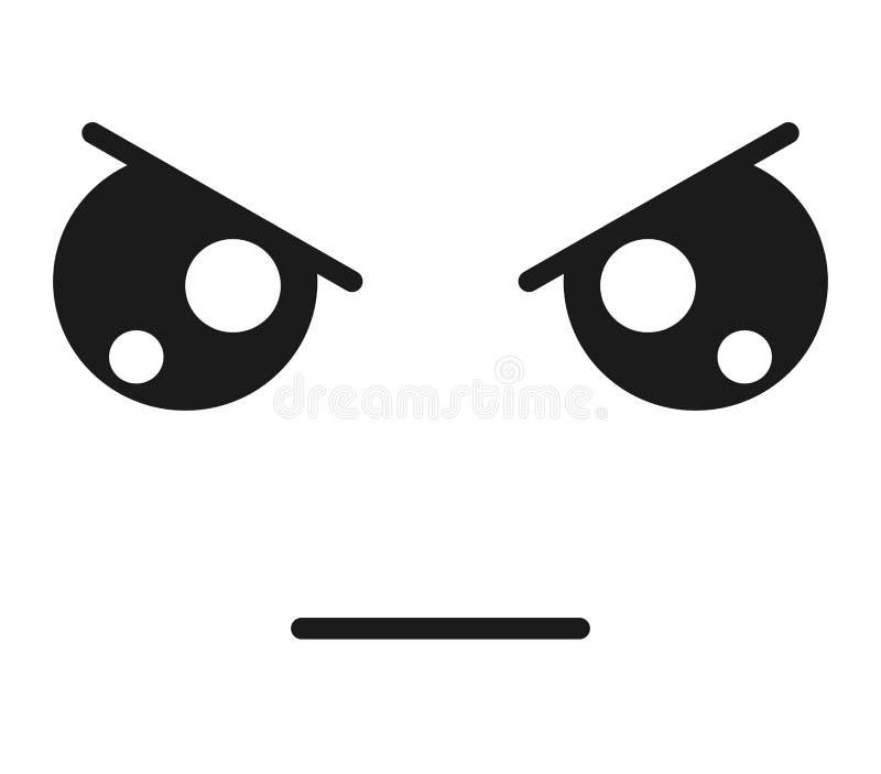 diseño aislado emoticon enojado del icono de la cara ilustración del vector
