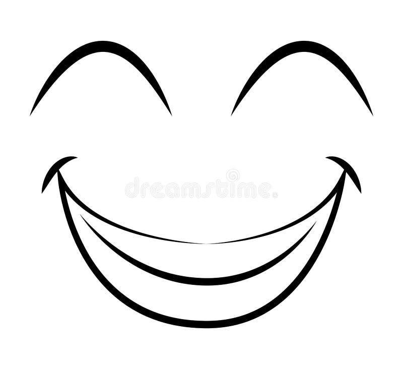 diseño aislado emoticon feliz del icono de la cara ilustración del vector