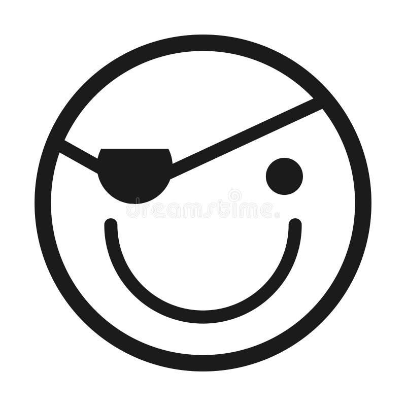 diseño aislado emoticon feliz del icono de la cara stock de ilustración