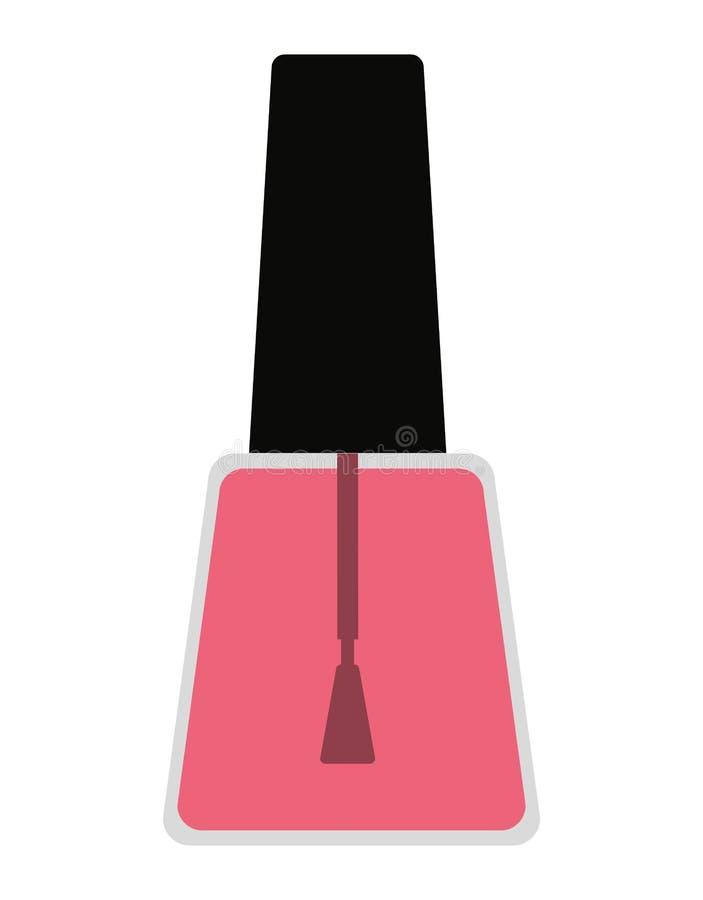 diseño aislado nailspolish del icono del producto de maquillaje ilustración del vector