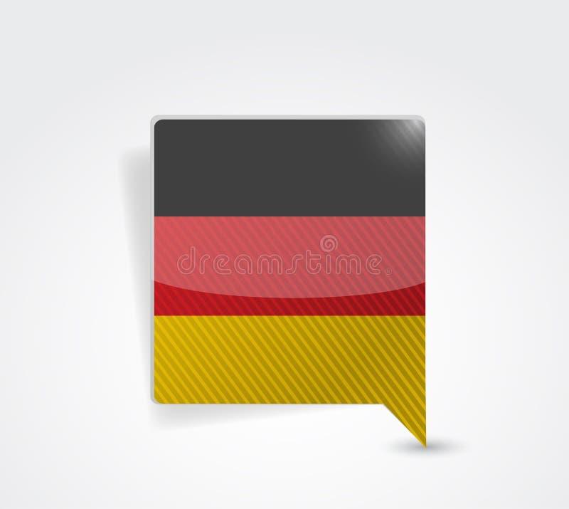 Diseño alemán del ejemplo de la burbuja del mensaje libre illustration