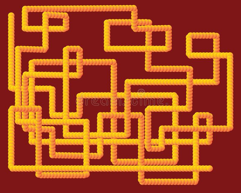 Diseño amarillo del tubo 3D ilustración del vector