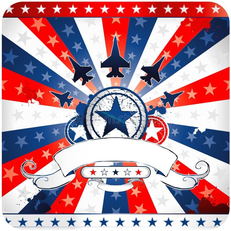 Diseño americano patriótico ilustración del vector