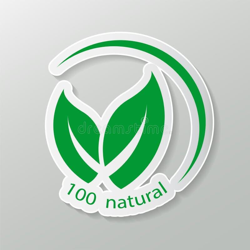 Diseño amistoso natural del vector producto natural del logotipo etiquetas engomadas, etiquetas, etiquetas con el texto Natural,  libre illustration