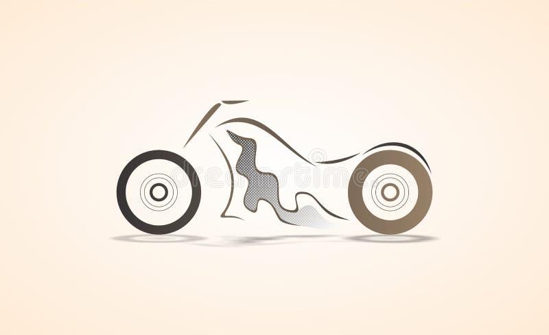 Diseño angular abstracto mínimo de la curva de la bici del interruptor/ejemplo coloreado bosquejo del vector ilustración del vector