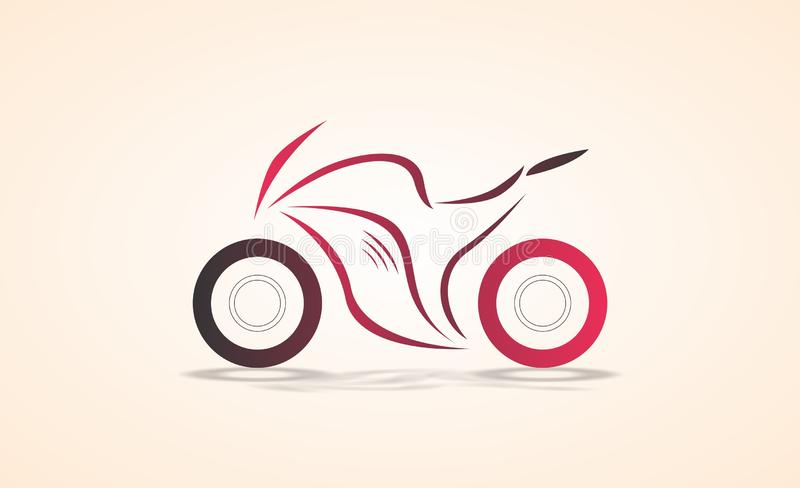 Diseño angular de la curva del extracto de la bici de los deportes/ejemplo coloreado bosquejo del vector stock de ilustración