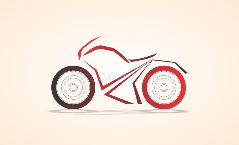 Diseño angular de la curva del extracto estupendo de la bici/ejemplo coloreado bosquejo del vector ilustración del vector